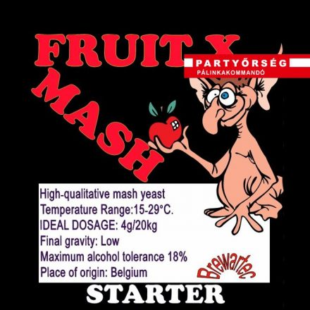 Fruit X fajélesztő pálinkacefre erjesztéséhez a palinka.online kínálatában.