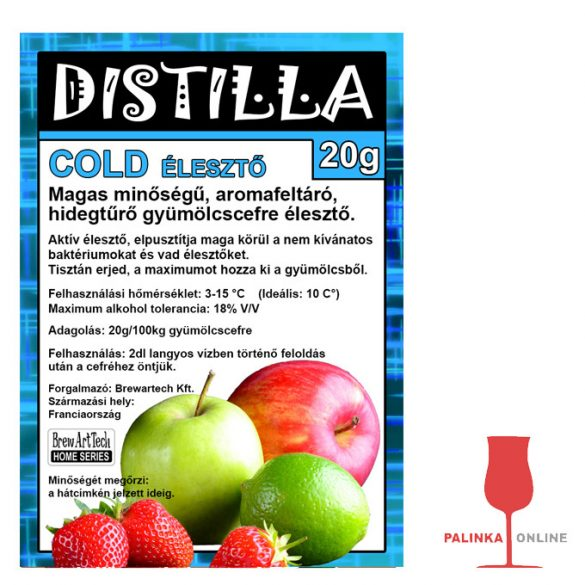 Disitlla Cold hidegtűrő fajélesztő 20g
