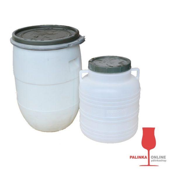 Cefréző edény szett pálinkacefre készítéshez 60+30 literes műanyag hordók