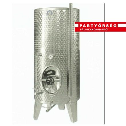 Saválló erjesztőtartály pálinkacefre készítéshez sziplafalú és hűtőköpenyes kivitelben