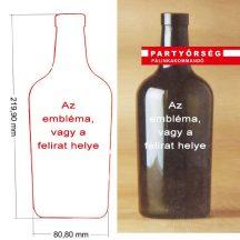 Saját címkedesign Cubano palackra - Pálinkadesign a Partyőrség   Pálinkakommandó pálinkashopban!