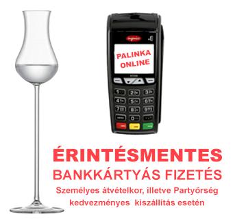 Érintésmentes bankkártyás fizetés a pálinka.online webshopban